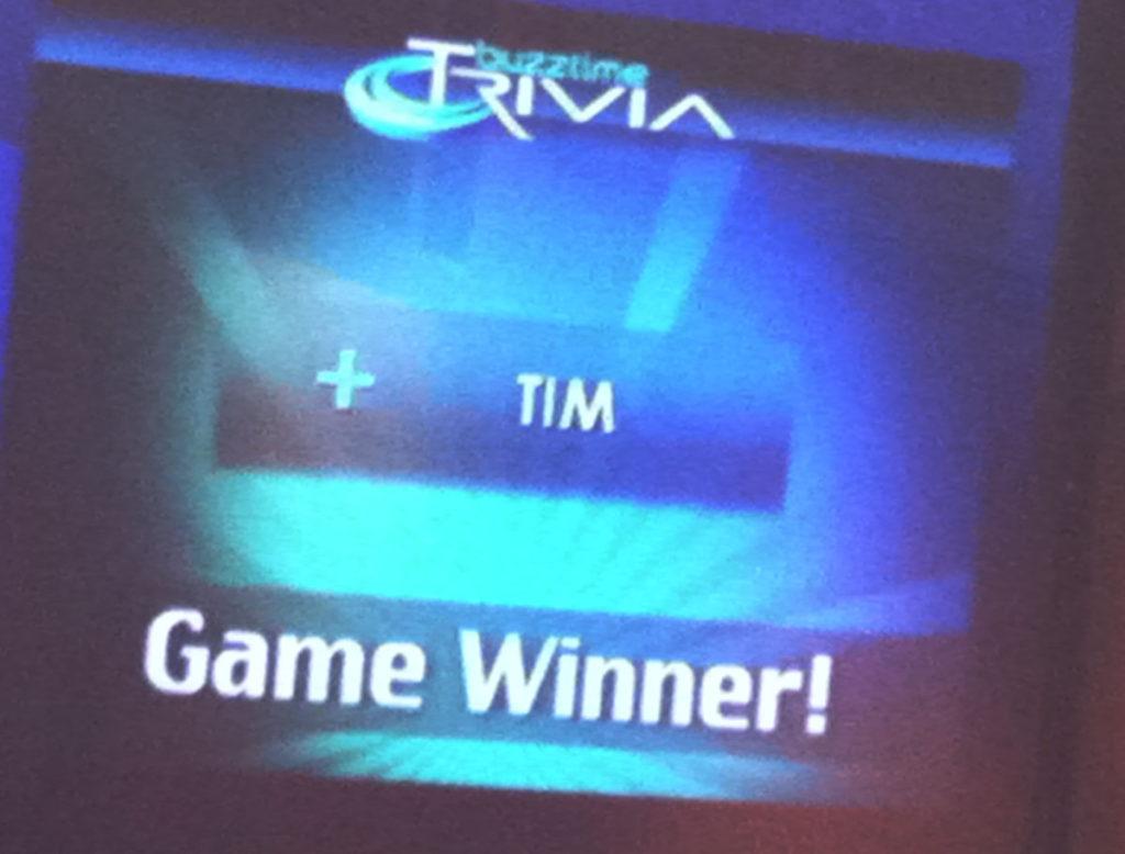 Buzztime Trivia Winner